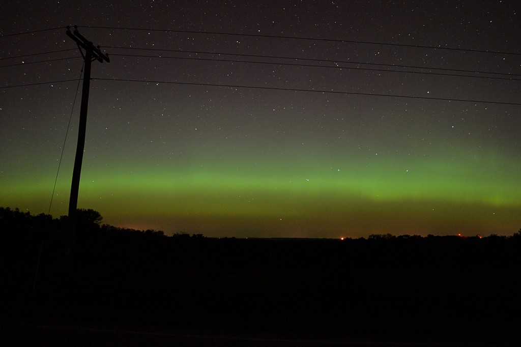 October 2, 2013 aurora, seen from Dodgeville, Wisconsin.