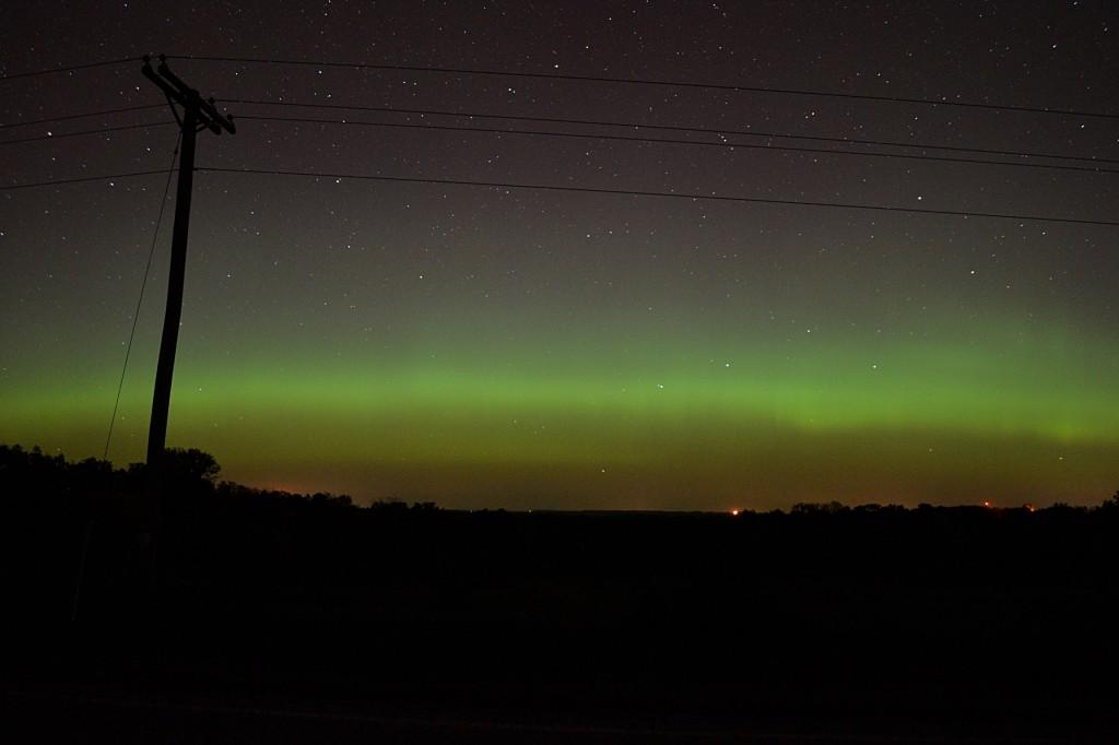 October 2, 2013 aurora, seen from Dodgeville, Wisconsin.