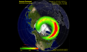 An example of SWPC's Ovation Auroral Forecast